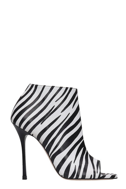 Marc Ellis Open Toe Ankle Boots in white