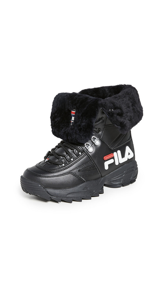 Fila Disruptor Boots in black / red / white