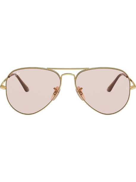 Ray-Ban two-tone aviator-frame sunglasses in gold