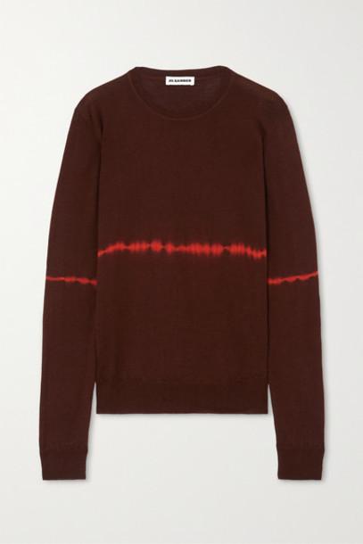 Jil Sander - Tie-dyed Wool And Silk-blend Sweater - Brown