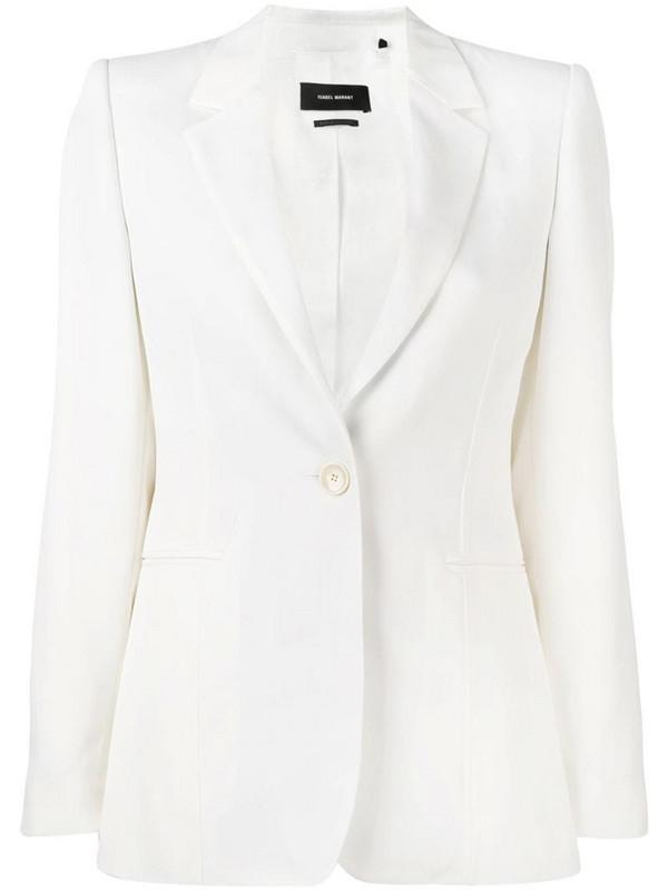 Isabel Marant Praise modern costard jacket in white