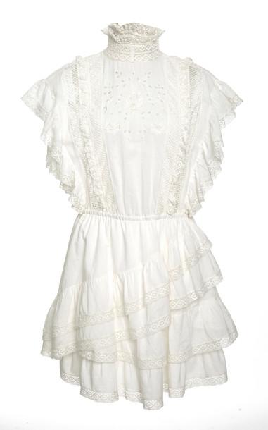 Ulla Johnson Holly Mini Dress in white