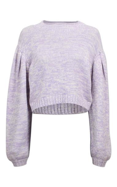 Baum und Pferdgarten Christea Knitted Open Back Sweater in purple