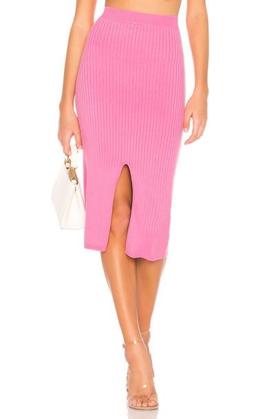 Free People Skyline Midi Skirt in pink
