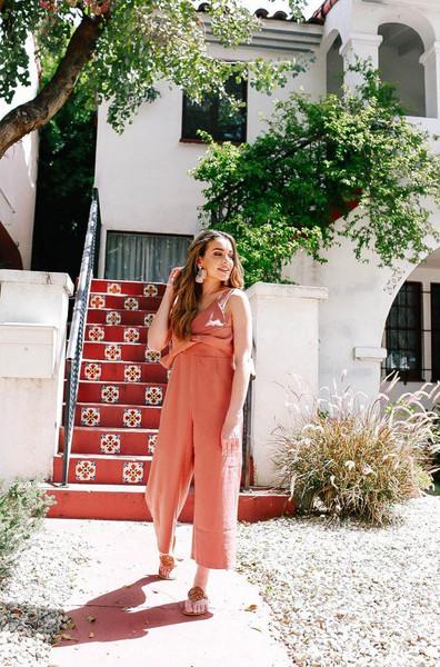 hashtagfablife blogger jumpsuit jewels shoes summer outfits sandals