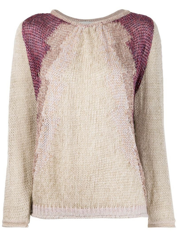 Forte Forte relaxed-fit panelled jumper in neutrals