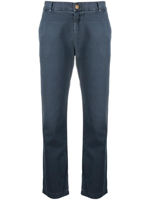 Current/Elliott turn-up cuff cropped trousers in blue