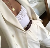 top,white top,ruched,camisole