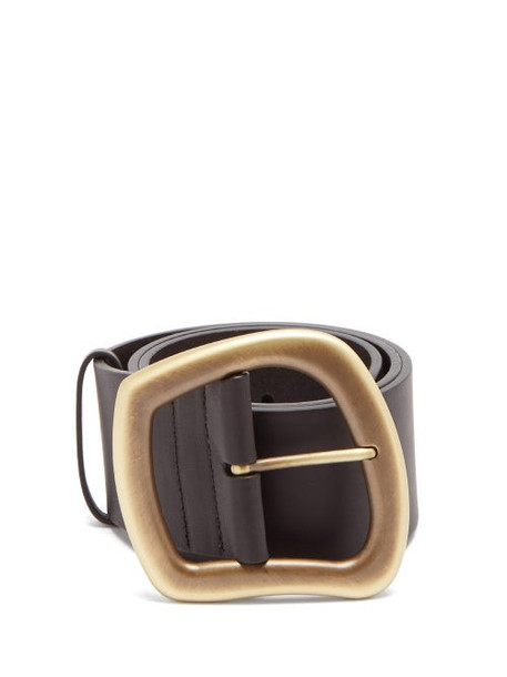 Gabriela Hearst - Simone Asymmetric-buckle Leather Belt - Womens - Black