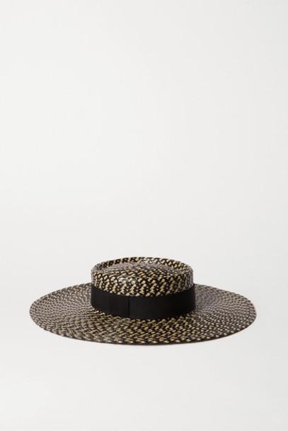 Eugenia Kim - June Grosgrain-trimmed Faux Straw Hat - Black