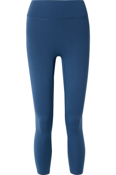All Access - Center Stage Cropped Stretch Leggings - Blue