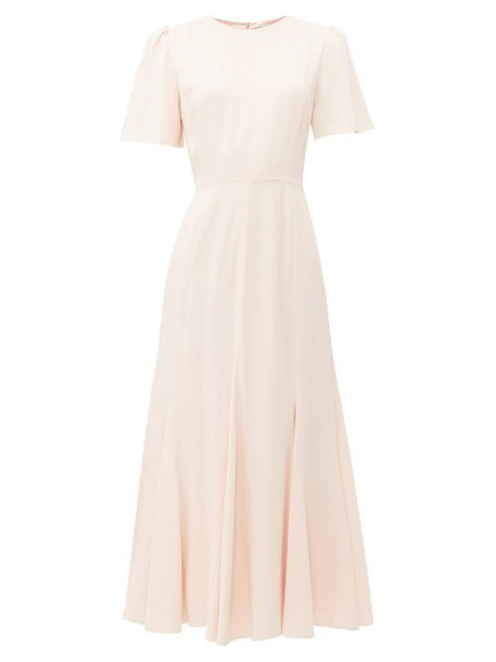 Goat - Ivana Flared Hem Midi Dress - Womens - Light Pink