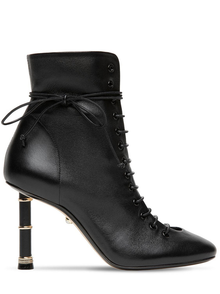 ALEVÌ 90mm Love Leather Ankle Boots in black