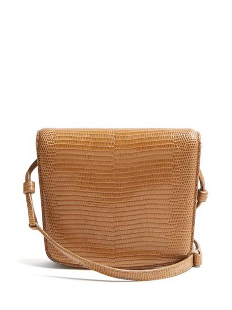 The Row - Julien Lizard Skin Shoulder Bag - Womens - Light Brown