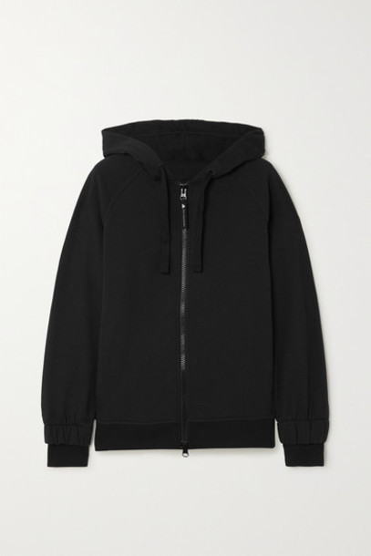 adidas by Stella McCartney - Essentials Printed Cotton-jersey Hoodie - Black