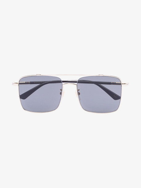 Gucci Eyewear gold tone square tinted sunglasses