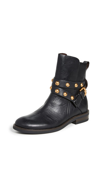 See by Chloe Janis Flat Boots in nero