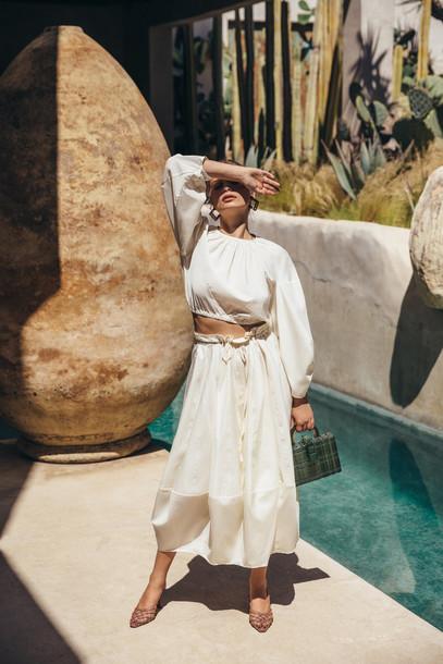 Cult Gaia Oshun Skirt - Dove                                                                                               $358.00