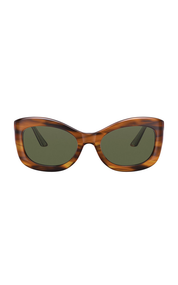 Oliver Peoples THE ROW Edina Acetate Cat-Eye Sunglasses in brown