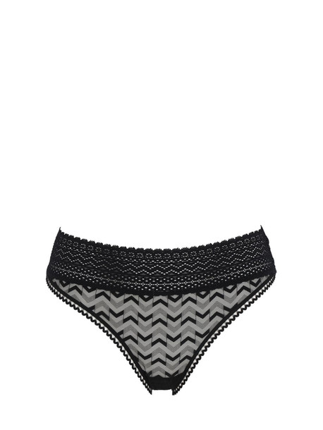 ELSE Boomerang Ii Mesh Bikini Briefs in black