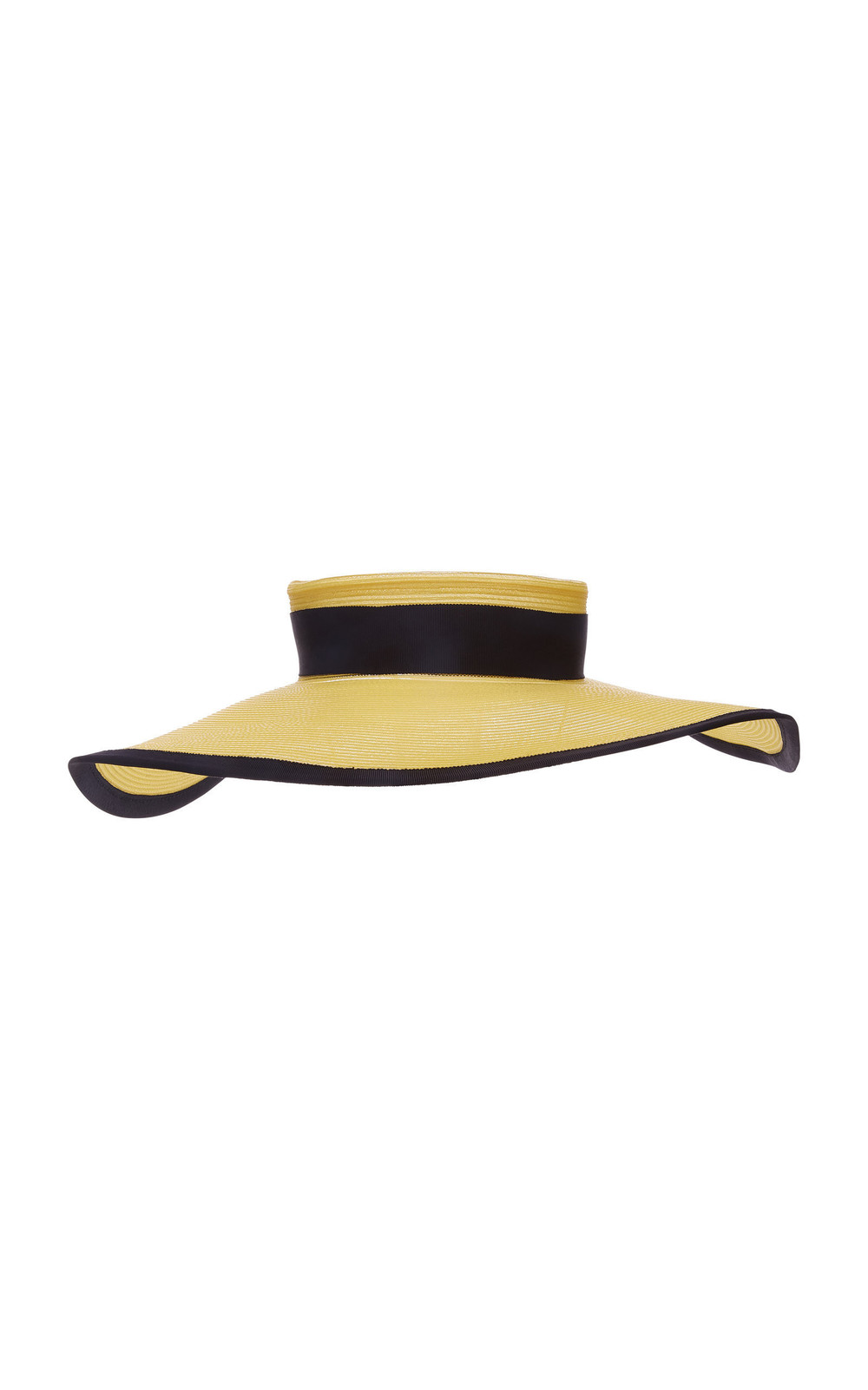 Eugenia Kim Bettie Canvas-Trimmed Straw Hat in yellow