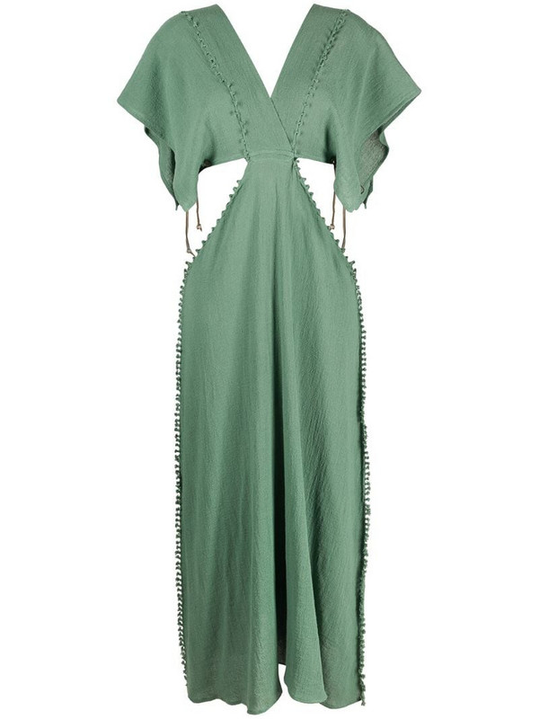 Caravana Conkal knot-detail dress in green