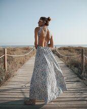 dress,maxi dress,open back dresses,flat sandals,summer outfits,summer dress