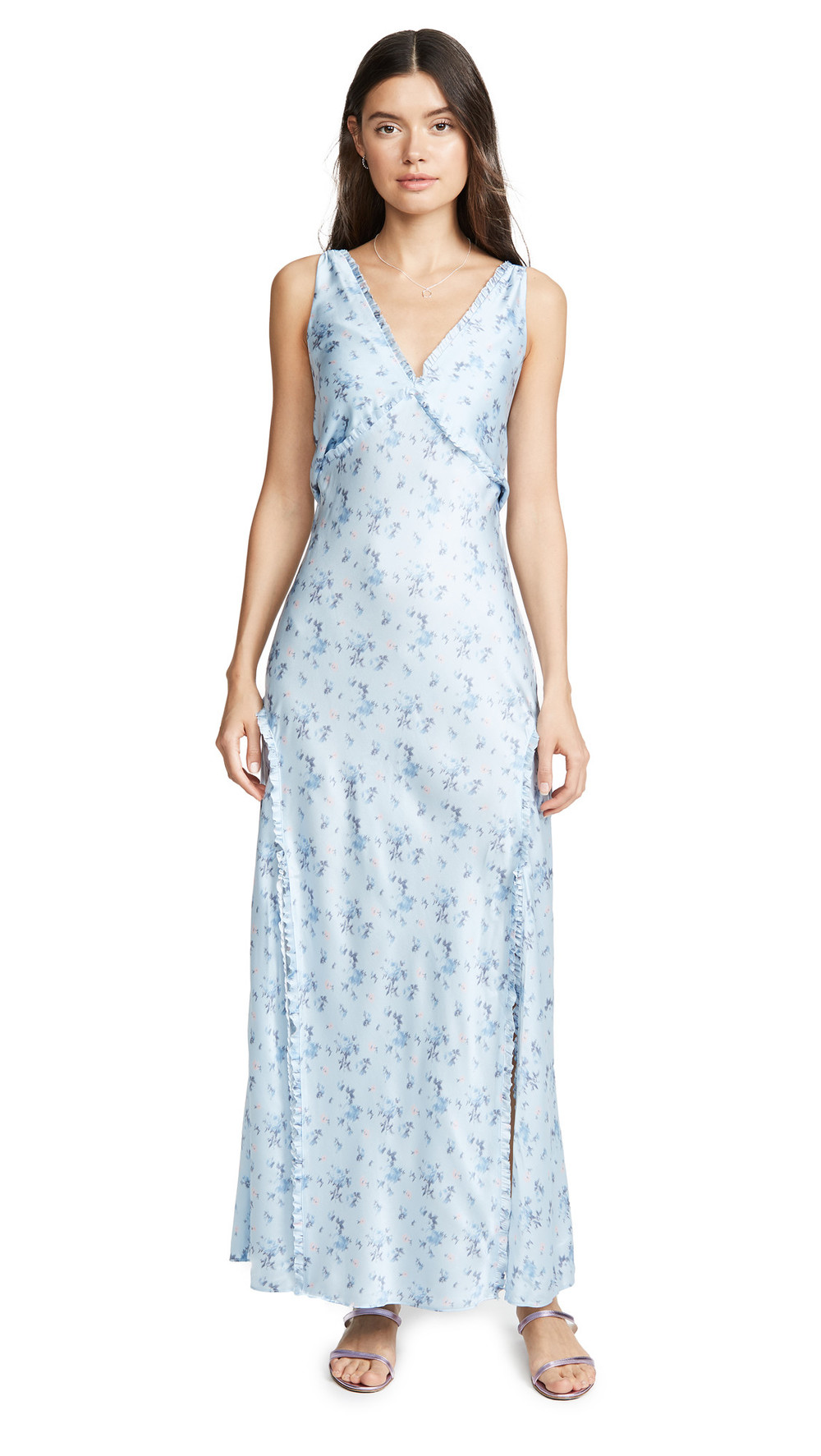 LOVESHACKFANCY Kendall Dress in blue