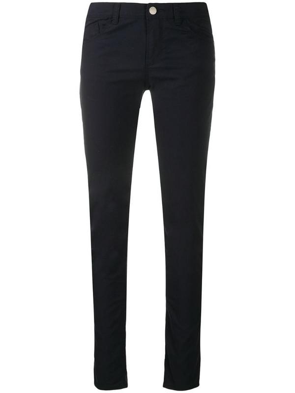 Emporio Armani skinny trousers in blue