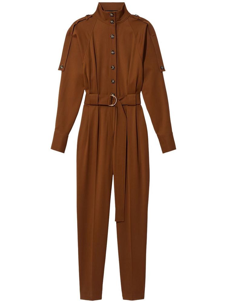 PROENZA SCHOULER Wool Jumpsuit W/ Belt in khaki