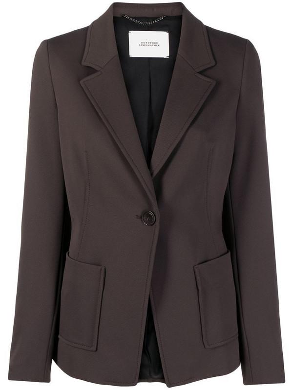 Dorothee Schumacher Allure structured jacket in brown