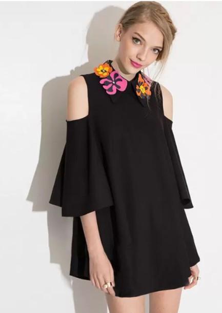 dress black flowers