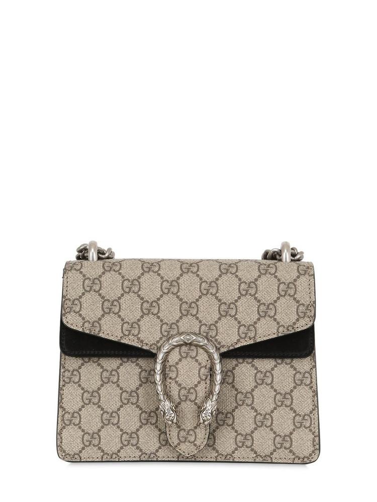 GUCCI Mini Dionysus Gg Supreme Shoulder Bag in black / taupe