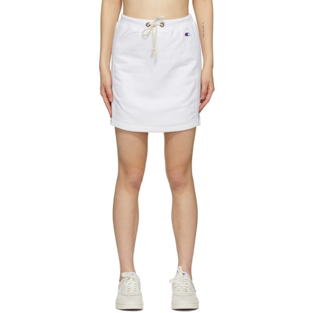 Champion Reverse Weave White Logo Sweat Skirt