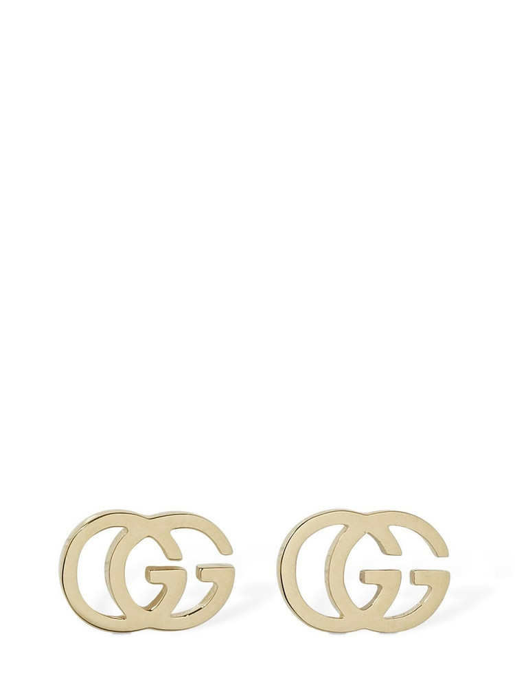 GUCCI 18kt Gold Gg Tissue Stud Earrings