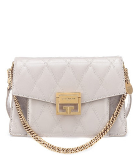 Givenchy Small GV3 leather shoulder bag in beige