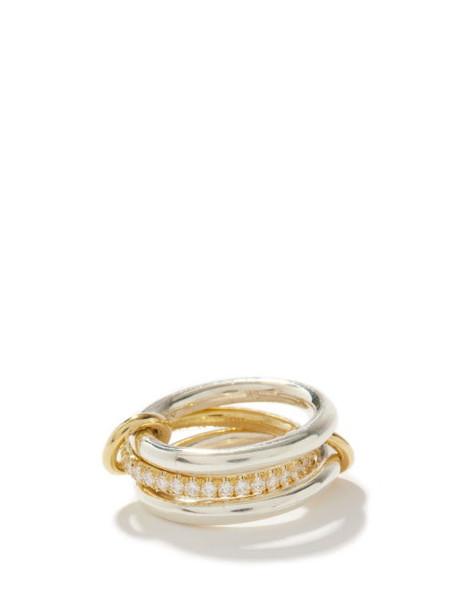 Spinelli Kilcollin - Libra Diamond, 18kt Gold & Sterling-silver Ring - Womens - Silver Gold