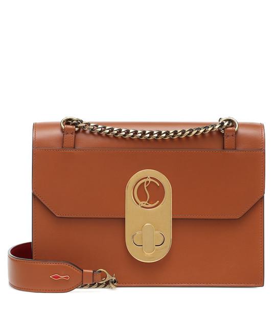 Christian Louboutin Elisa Large leather shoulder bag in brown