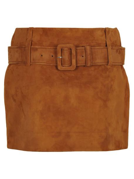 Prada Skirt Suede in brown