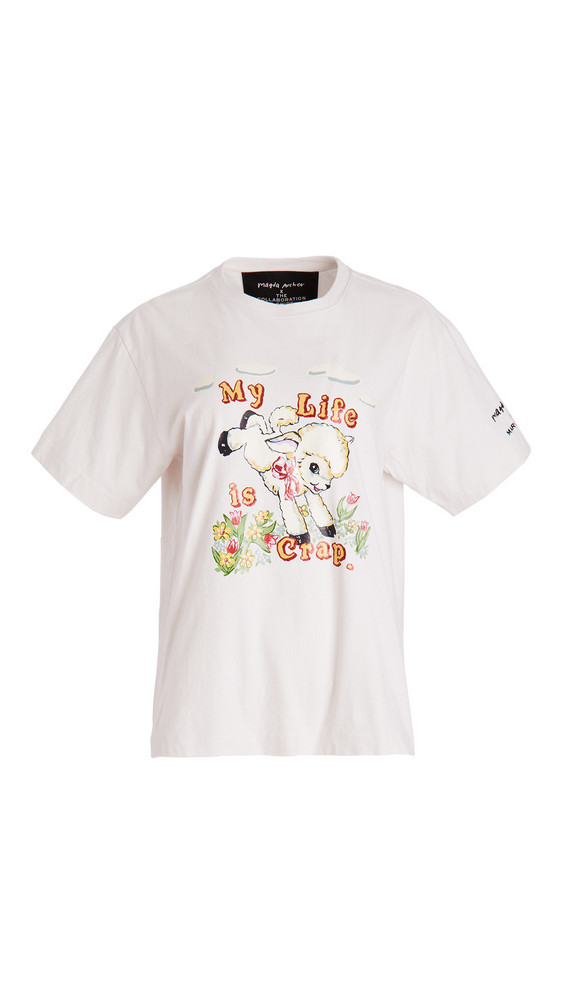 The Marc Jacobs x Magda Archer The Magda T-Shirt in ivory