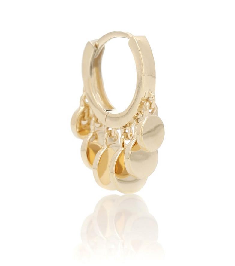 Jacquie Aiche Mini Disco Shaker 14kt gold single hoop earring