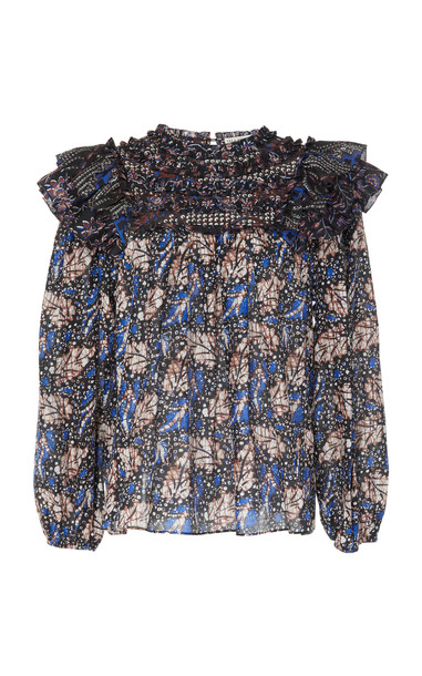 Ulla Johnson Dalma printed top in blue