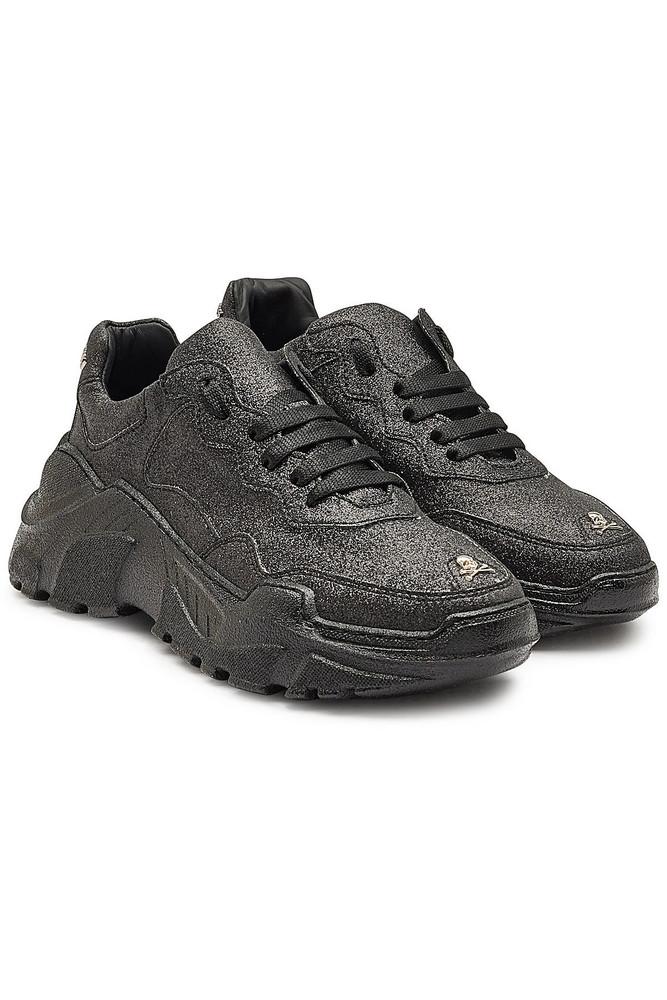 Philipp Plein Runner Crystal Sneakers  in black