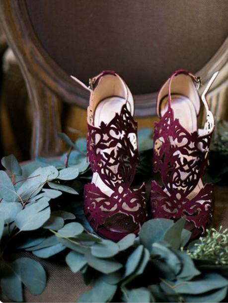 shoes burgundy classy heels beautiful