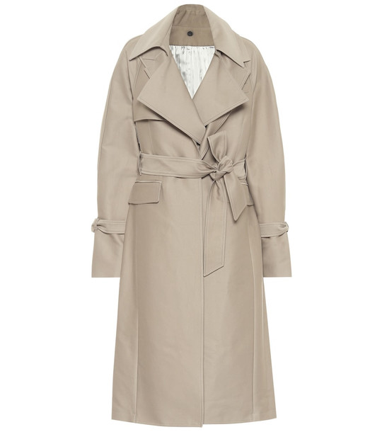 Peter Do Cotton twill trench coat in beige