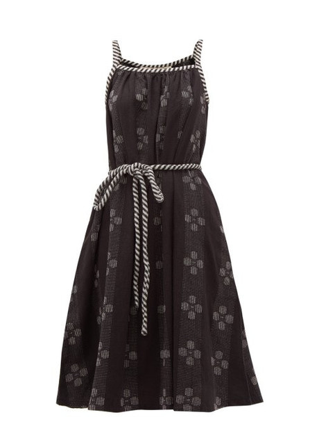 Ace & Jig - Noelle Belted Waist Cotton Dress - Womens - Black White