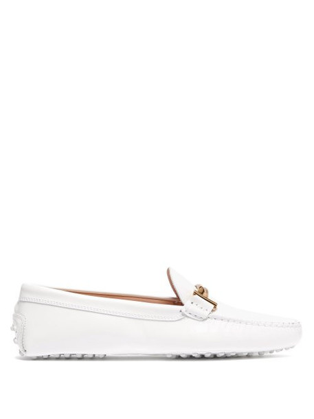 Tod's - Gommino Patent Leather Loafers - Womens - White