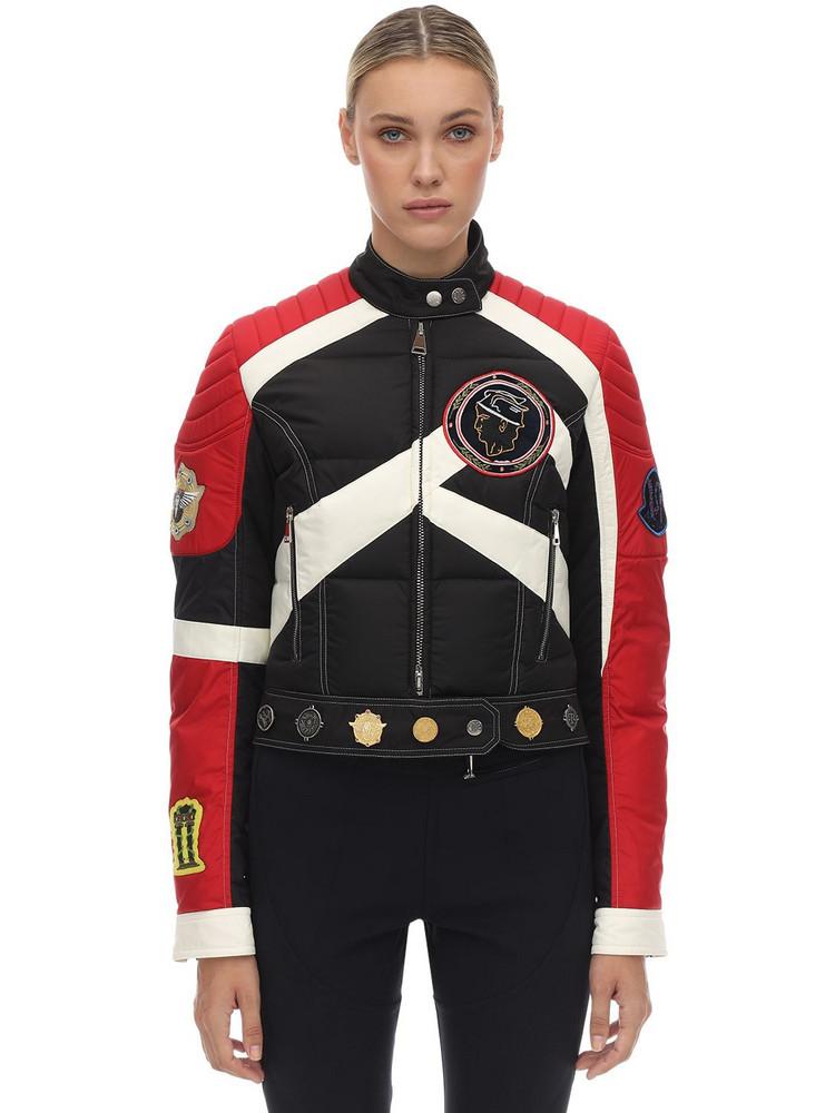 MONCLER GENIUS 1952 Murray Nylon Biker Down Jacket in black