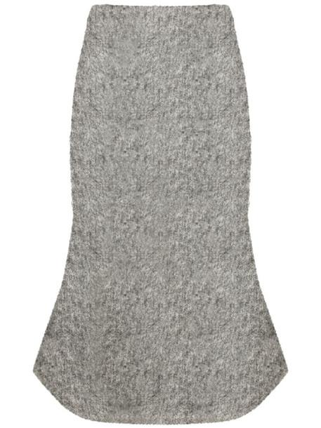 Christopher Kane knitted brushed bouclé bell skirt in grey