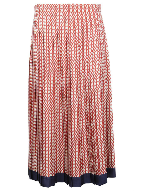 Valentino Optical V Skirt in brick